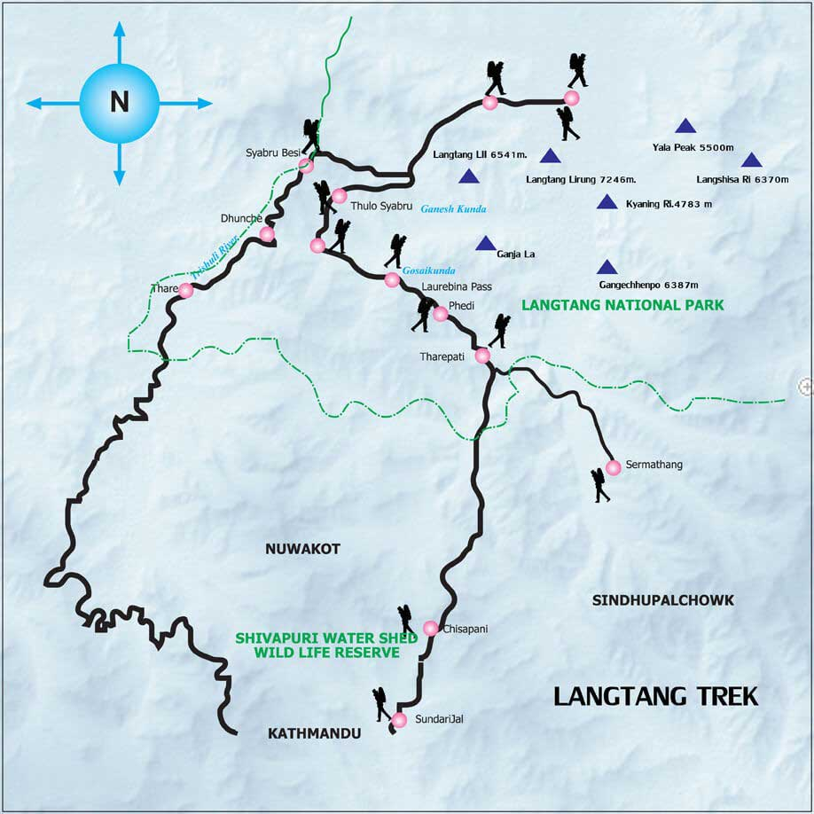 Langtang Gosaikunda Lake Trek – 13 Days